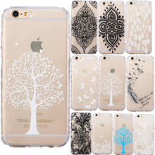 Wave Frame Anti-slide Design Flower TPU Case Soft Phone Protector Cover For iphone 5s SE 5C 6 6S 7 Plus for ipod touch 5 6