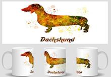 Dachshund Dog mugs Tea gifts cold hot heat sensitive mug friend gifts transforming  heat changing color