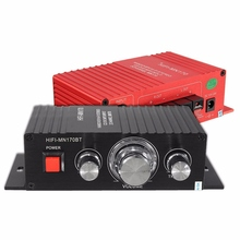 15W*2 Channel Audio Car Home Mini HIFI Stereo Power Amplifier For Radio MP3 Speaker For Auto Motorcycle(China)