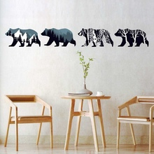 Modern DIY Polar Bear Environment Layout TV Background Wall Decoration Removable Wall Stickers 90*60cm(China)
