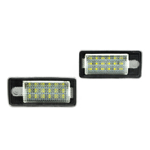 18 LED 6000K License Number Plate Light Lamp For Audi A3 S3 A4 S4 B6 B7 A6 S6 A8 Q7 NO Canbus Error(China)