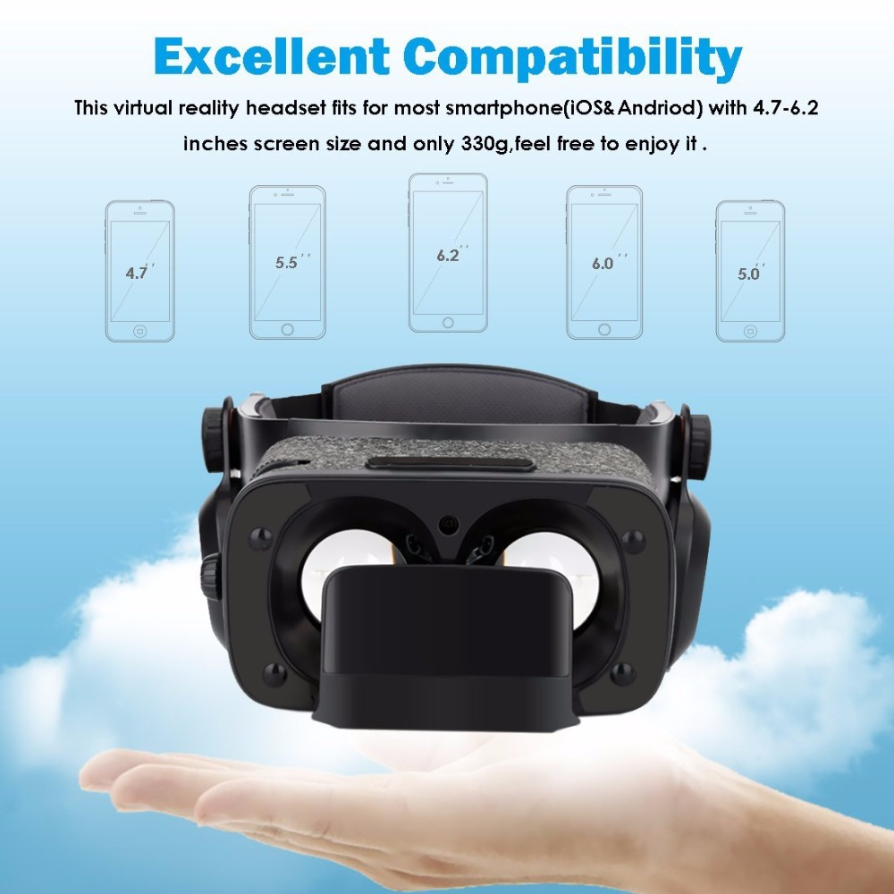 ETVR Z5 Pro New Arrival Virtual Reality Gear Goggles 3D Google Cardboard Gafas VR Box Headset Helmet For 4.7-6.0 inch Smartphone