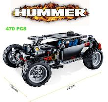 470PCS Hummer Technology Transport SUV Racing Car Truck Plastic Model Building Blocks Bricks Toy Compatible With Lego