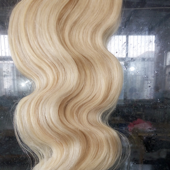 18inch 140g Indidan Remy Full Head Clip in Human Hair Extension 60 Platinum Blonde Color Clip On Human Hair Extension<br><br>Aliexpress