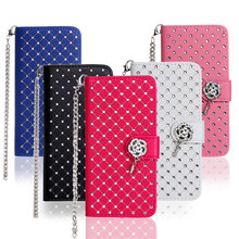 Case For Samsung Galaxy S7 Luxury Durable Genuine Leather Diamonds All over the sky star purse holster Case Covers Phone Bags