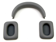 Replacement Earpads and Headband Repair Set for Monster Inspiration Noise Canceling Over-Ear Headphones (Grey)