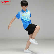 Table Tennis Clothes Youth 2017 New Badminton Clothing Suit Couple Quick Drying Summer Tennis Clothes Tennis Kids Sports Shirt(China)