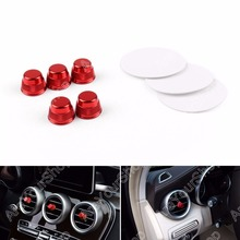 Car Air Vent Outlet Caps Cover Trim Stickers For Benz C Class W205 5Pcs High Quality Red Car-Styling Decoration Cover
