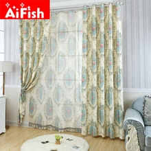 American Rural Country Printed Voile blackout curtains for the bedroom Living Room New Arrivel curtain kitchen Windows DY016-15