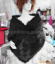 2017 Wedding Jacket Bride Shrug Black Faux Fur Bolero Women Winter Wedding Bridal Wrap Special Occasion Wedding Shawl
