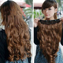 Head Clip Curly Wavy Women Synthetic Hair Extension 2017 Hot product discount beauty(China)