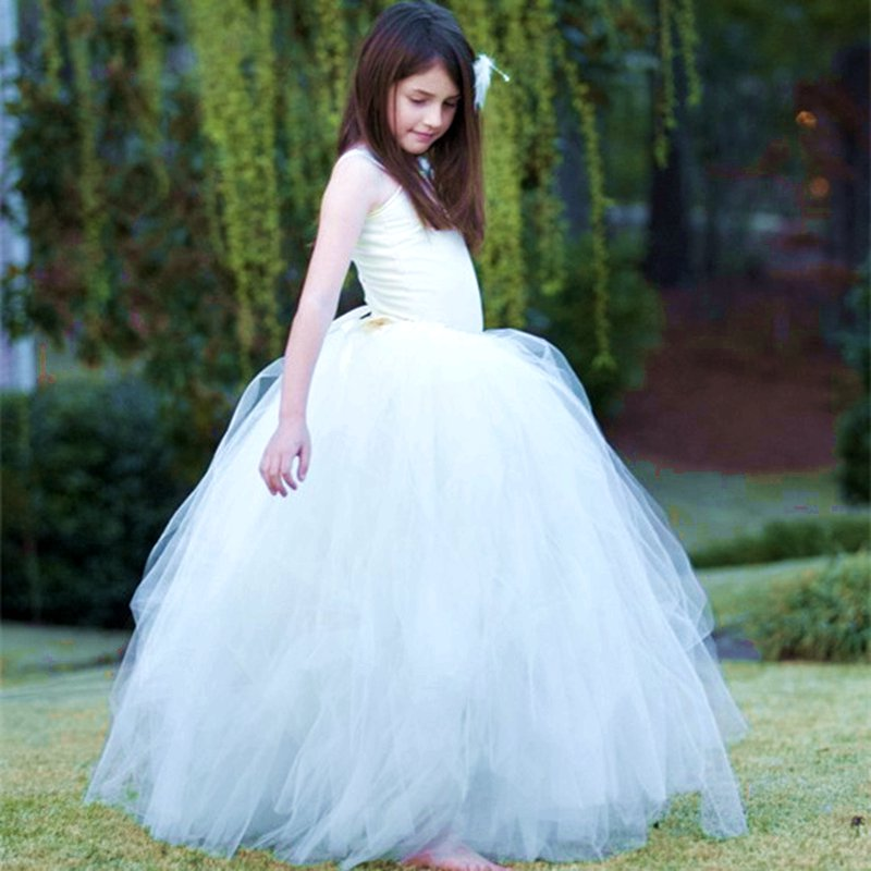 Princess Flower Girls Tutu Dress For Wedding/Birthday/Party Satin Top With Lace Strap Baby Girls Boutique Ball Gown Dresses PT50<br><br>Aliexpress