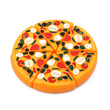 6PCS New Hot Sale Childrens/Kids Funny Plastic Pizza Slices Toppings Pretend Play Dinner Kitchen Dinner Food Toys(China)