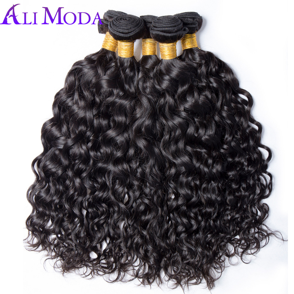 Water Wave Bundles Brazilian Hair Weave Bundles Can Buy 3 / 4 Bundle Human Hair Bundles Ali Moda Hair Bundless non remy Hair 1PC(China)