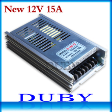 New 12V 15A 180W Switching power supply Driver For LED Light Strip Display AC100-240V Factory Supplier Free Shipping(China)