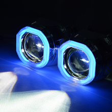 35W 2.8 Inch LED HID Bi Xenon Headlight Projector Lens light for Car CCFL Angle Eye H7 H4 Use H1 Bulb for LHD RHD