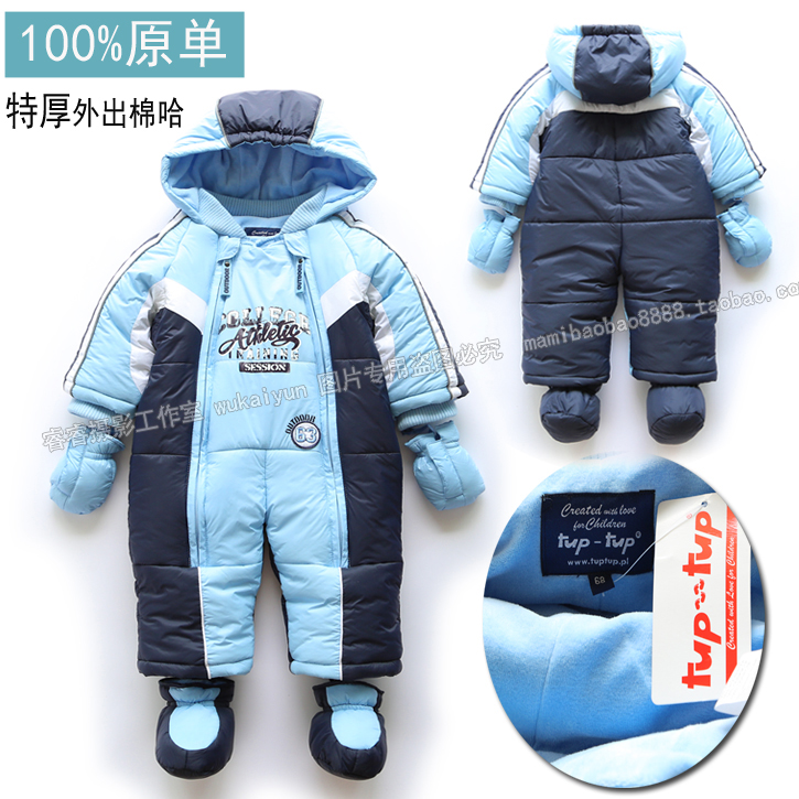 new 2016 autumn Winter romper baby clothing baby boy overalls newborn thick warm cotton rompers kids jumpsuit baby wear<br>