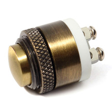 16mm Momentary Brass Metal Push Button Door Bell Switch GRT Working Current 2A Mechanical Life 1,000,000 Cycles