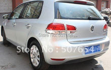 Free shipping!High quality 4pcs taillight cover/rear light trim/rear lamp cover(ABS Chrome) For VOLKSWAGEN GOLF 6