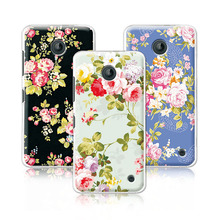 2016 Luxury Floral Painted Case For Nokia lumia 630 Case Art printed Flower Cell Phone Case For Nokia lumia 630 Cover+Pen