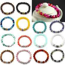 New 1Pc Natural Stone Unisex Fashion Lava Beads Buddha Bracelet Jewelry Elastic DO NOT CHOOSE N&J ARE OUT OF THE STOCK