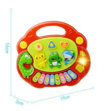 2017 Lovely New Useful Popular Baby Kid Animal Farm Piano Music Toy Developmental Red Brinquedo Educativo Lowest Prcie