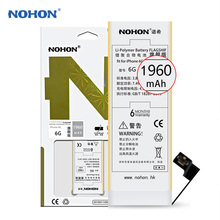 NEW 100% Original NOHON Battery For Apple iPhone 6 6G Li-ion Internal Battery Replacement 1960mAh High Capacity With Free Tools
