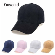 Ymsaid High Quality Women Dad Hat Baseball Cap Men Solid Color Hats Fashion Corduroy Casual Unisex Light Board Snapback Caps