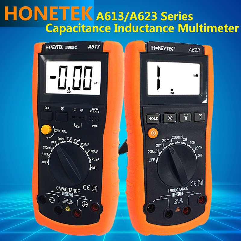 LCD light Display Professional Handheld Multimeter Capacitance Meter Tester automatic discharge function Digital Multimeter<br>
