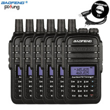 6 PCS Baofeng UV-B9 Walkie Talkie 8W High Power DC7.4V 4800mAh Li-ion Battery 10 km Dual Band Two Way Radio+1 Programming Cable