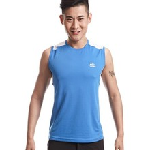 Summer Sleeveless Outdoor T Shirt Men Jogging Sport Vest Sweat Breathable Comfort Tops Tees Quick Dry Climbing Hiking Homme Top