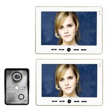 MOUNTAINONE Manufacturer 2016 10 Inch Home Security Smart Video Door Phone with electronic door Intercom System with 2 Monitors