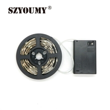 SZYOUMY 5V 60led/m Battery Powered 5050 RGB LED Strip Light Kit WaterProof for TV Cabinet Bike Outdoor Activities Decoration
