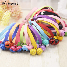 Colorful Dog Collar with Big Bell , Dog Accessory Necklace for Little Dogs and Cats, Toy Poodle Collar ,chiwawa(China)
