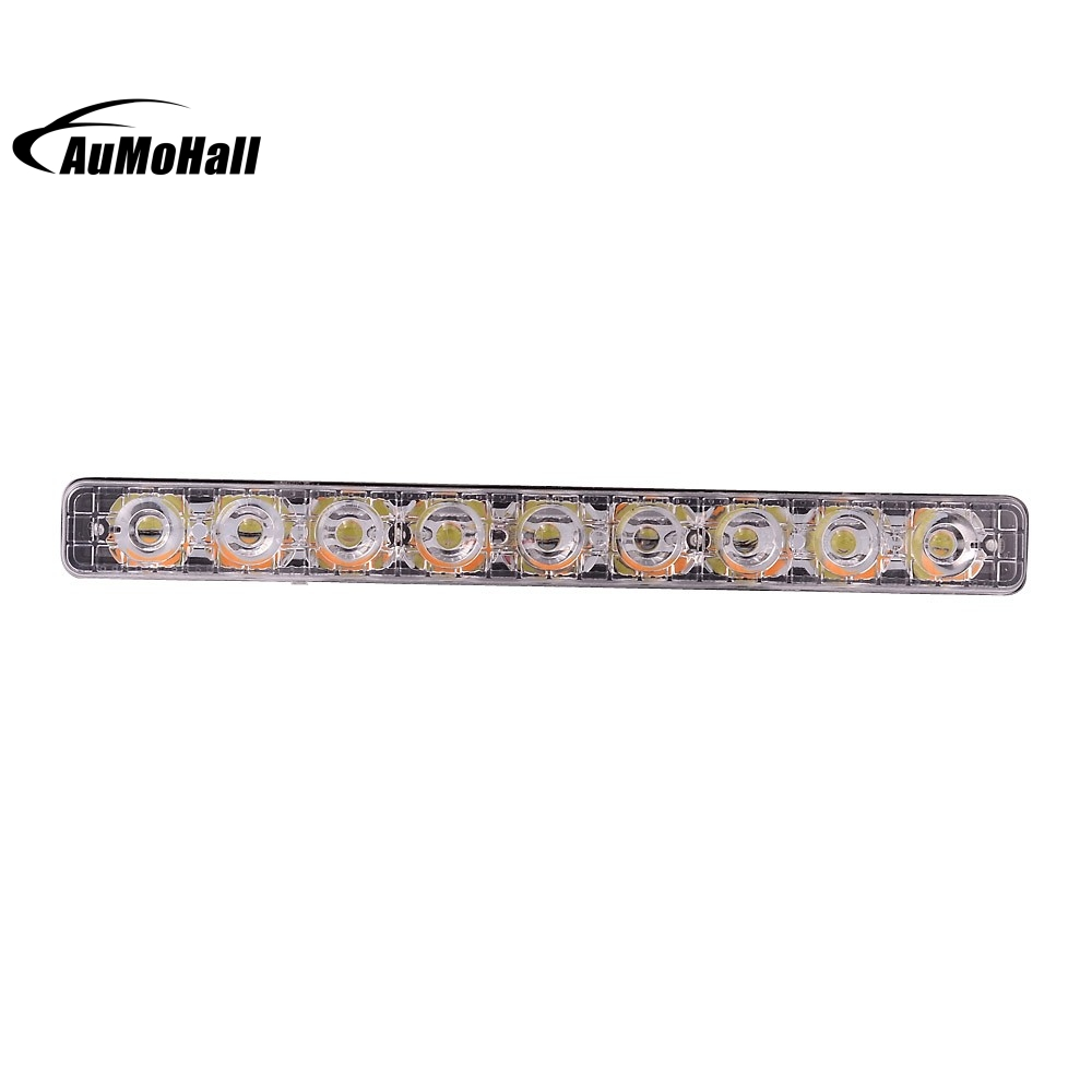 Super Bright White 9 LED Daytime Running Light DRL Universal Daylight Fog Driving Lights With Turning Signal Lights Head Lamp<br>