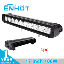 ENHOT 17 INCH 100W CREE CHIP LED LIGHT BAR LED DRIVING LIGHT COMBO BEAM FOR OFFROAD TRACTOR ATV 4x4 SUV SAVED ON 120W