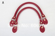 ON SALE 20pcs=10pairs/lot high quality genuine leather Bag handle,Leather DIY handbag handle/strap, repair Diy accessories