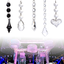 Buy 10 Pcs Wedding Marriage Acrylic Crystal Beads 5 Shapes String Drops Pendant Garland Chandelier Hanging Curtain Interior Decor for $2.45 in AliExpress store