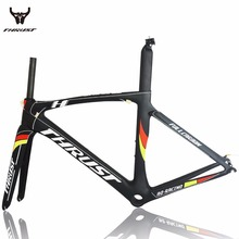 2017 Carbon road frame road bike aero road frame 700c and carbon road bike frame Di2 Toray T1000 UD 49/52/54/56/58cm Matte PF30(China)