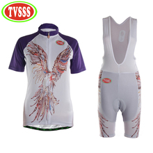 TVSSS 2017 New Women's  Cycling Clothing Summer Eagle Pattern Design Breathable Mountain Bike Jerseys Set Quick Dry