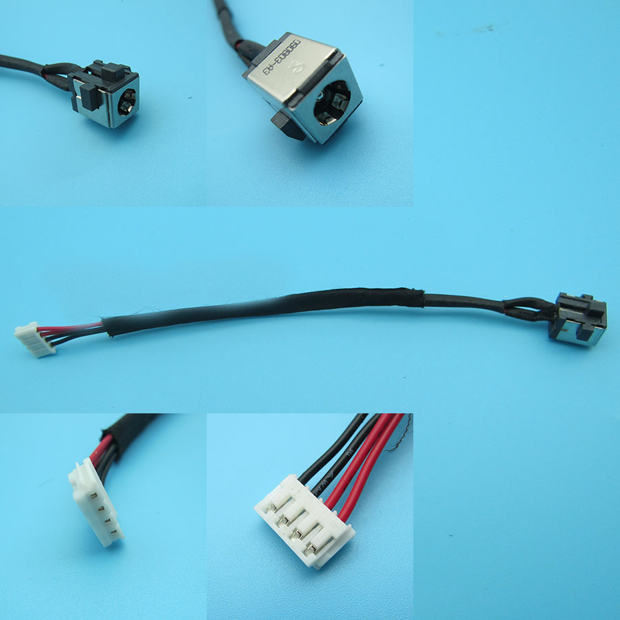 Dc Power Jack in cable harness for Toshiba satellite l775d-s7107 l770-s7108