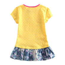 Ruffles Yellow kid wear,fashion baby children girls dresses up for children vestidos infantis de birthday free shipping clothes