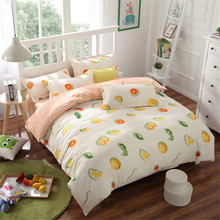 orange fruit bedding bed sets queen king twin kids 4/5 pcs watermelon brief quilt comforter duvet cover bedsheets bedlinen