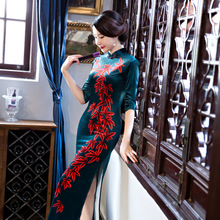 Buy New Arrival Fashion Long Women Cheongsam Dress Chinese Ladies Elegant Qipao Novelty Sexy Dress Size M L XL XXL 3XL F103012 for $41.31 in AliExpress store