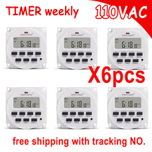SINOTIMER 7 Days Digital Programmable 110V 120V AC Timer Switch Time Relay for Time Control FREE SHIPPING