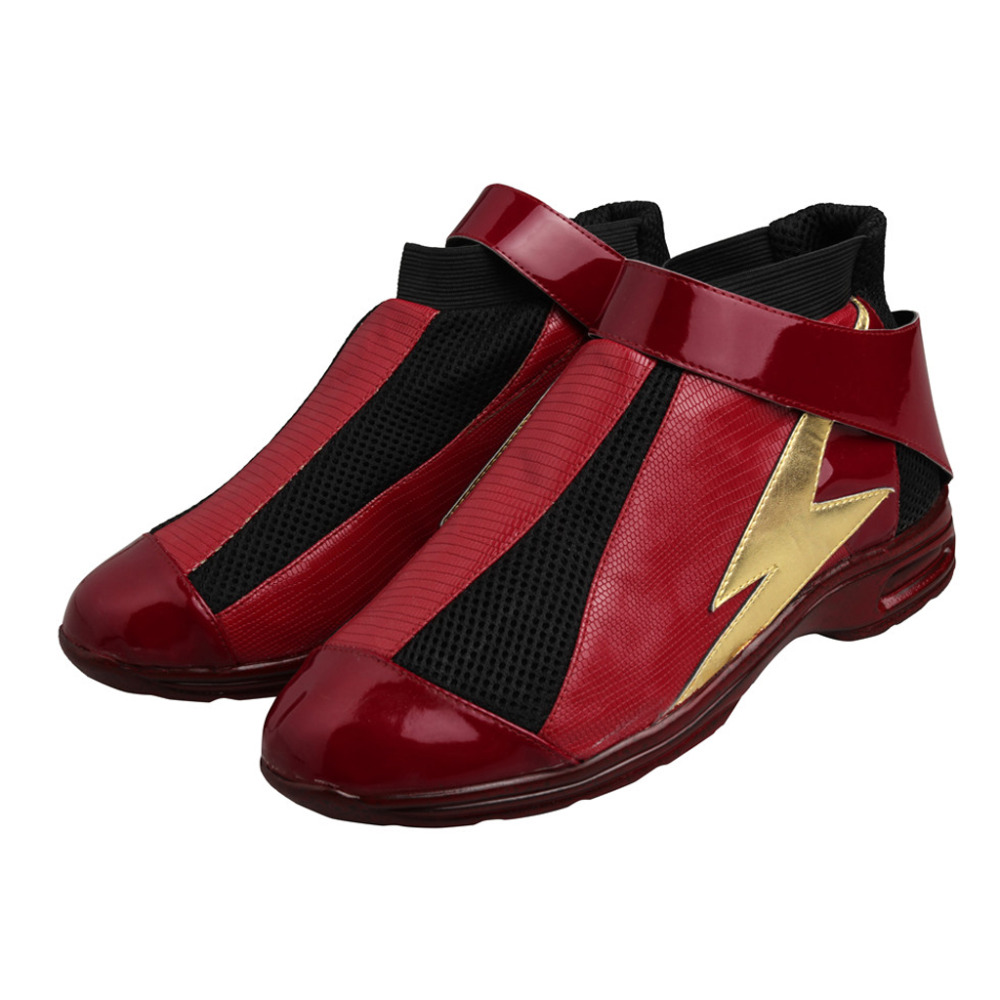 Justice League The Flash Barry Allen Cosplay Shoes Boots Halloween Carnival Cosplay Accessories