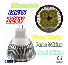 Super low price time buying 10pcs/lot Dimmable LED Lamp MRr16 4X3W 12W LED Light Bulbs High Power LED Spotlight(China)