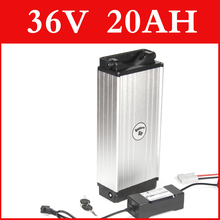 36V 20AH samsung lithium battery aluminum alloy Rear rack electric bike battery 36v e-bike lithium ion battery pack 42v 1000w