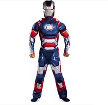 Child Kids Halloween Costume Iron Man Mark 42 / Patriot Muscle  party supplies  Fantasia Avengers Superhero Cosplay Outfit