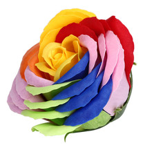 1 PCS Random Heart Scented Bath Body Petal Rose Flower Soap Wedding Decoration wholesale A2000